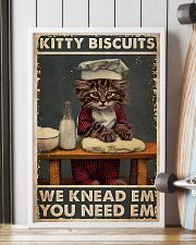 Cat Baking Kitty Biscuit 24x36 Poster lifestyle-poster-4