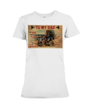 Motocross To My Dad PDN-dqh Premium Fit Ladies Tee thumbnail