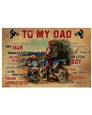 Motocross To My Dad PDN-dqh 17x11 Poster thumbnail