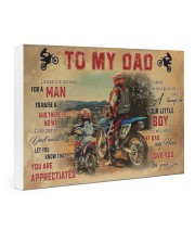 Motocross To My Dad PDN-dqh 24x16 Gallery Wrapped Canvas Prints front