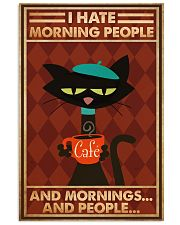Cat Coffee I Hate Morning People PDN-ntv 24x36 Poster front