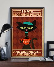 Cat Coffee I Hate Morning People PDN-ntv 24x36 Poster lifestyle-poster-2