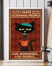 Cat Coffee I Hate Morning People PDN-ntv 24x36 Poster lifestyle-poster-4