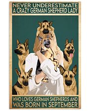 Crazy German Shepherd september 11x17 Poster front