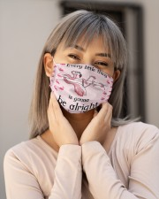 Flamingo every little thing is gonna be alright Cloth Face Mask - 3 Pack aos-face-mask-lifestyle-17