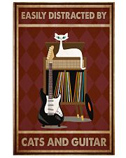 Music Cat Elec Guitar Easily Distracted PDN-NTH 11x17 Poster front