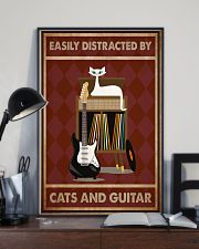 Music Cat Elec Guitar Easily Distracted PDN-NTH 11x17 Poster lifestyle-poster-2