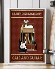 Music Cat Elec Guitar Easily Distracted PDN-NTH 11x17 Poster lifestyle-poster-4