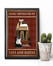 Music Cat Elec Guitar Easily Distracted PDN-NTH 11x17 Poster lifestyle-poster-8