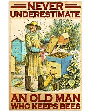 Beekeeper never underestimate an old man 11x17 Poster front