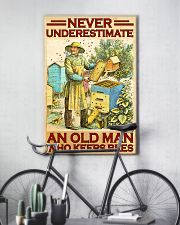 Beekeeper never underestimate an old man 11x17 Poster lifestyle-poster-7