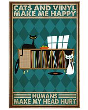 Music Cat Vinyl Make Me Happy1 PDN-dqh 11x17 Poster front