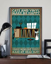 Music Cat Vinyl Make Me Happy1 PDN-dqh 11x17 Poster lifestyle-poster-2