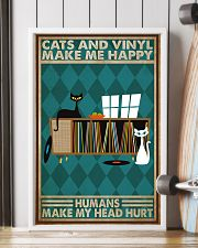 Music Cat Vinyl Make Me Happy1 PDN-dqh 11x17 Poster lifestyle-poster-4