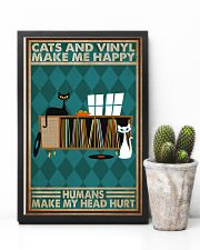 Music Cat Vinyl Make Me Happy1 PDN-dqh 11x17 Poster lifestyle-poster-8