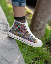Skiing Badges Shoe PDN-dqh Women's High Top White Shoes aos-complex-women-white-top-shoes-lifestyle-02