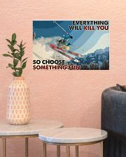Skiing Choose ST Fun2 PDN-dqh 17x11 Poster poster-landscape-17x11-lifestyle-21