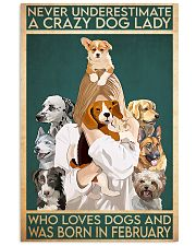 Dog Crazy Dog Lady Born In February 11x17 Poster front