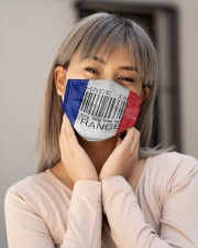 France Made In Code Cloth Face Mask - 3 Pack aos-face-mask-lifestyle-17
