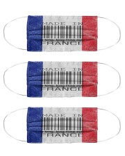 France Made In Code Cloth Face Mask - 3 Pack front