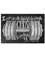 Christ strength fitness 17x11 Poster front
