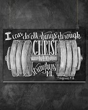 Christ strength fitness 17x11 Poster poster-landscape-17x11-lifestyle-12