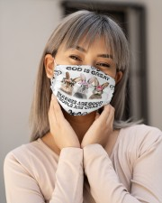 Bunnies is Good Msk Cloth Face Mask - 3 Pack aos-face-mask-lifestyle-17
