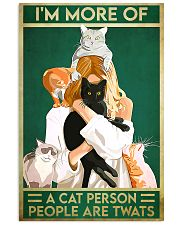 Cat Im More Of A Cat Person 11x17 Poster front