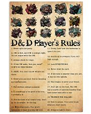 DnD players rules 24x36 Poster front