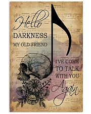Skull Music Sheet Hello Darkness My Old Friend 11x17 Poster front