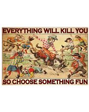 Cat Rodeo Choose ST Fun PDN-dqh 17x11 Poster front