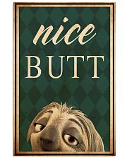 Sloth Nice Butt 11x17 Poster front