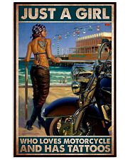 tattoo girl Haley loves motor pt mttn dqh 24x36 Poster front
