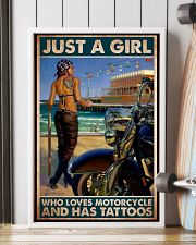 tattoo girl Haley loves motor pt mttn dqh 24x36 Poster lifestyle-poster-4