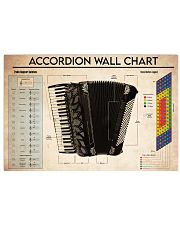 Music Accordion Chords 17x11 Poster front