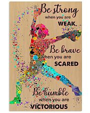 Softball be strong 24x36 Poster front