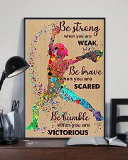 Softball be strong 24x36 Poster lifestyle-poster-2