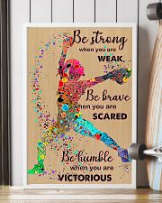 Softball be strong 24x36 Poster lifestyle-poster-4