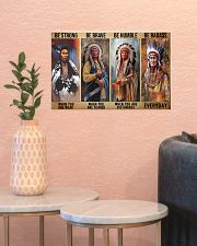 Native Strong Brave Humble PDN-PML 17x11 Poster poster-landscape-17x11-lifestyle-21