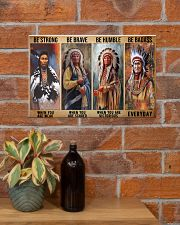 Native Strong Brave Humble PDN-PML 17x11 Poster poster-landscape-17x11-lifestyle-23