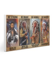 Native Strong Brave Humble PDN-PML Gallery Wrapped Canvas Prints tile
