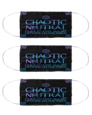 DD Chaotic Natural Cloth Face Mask - 3 Pack front