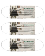 RB reading is the key mas lqt-pml  Cloth Face Mask - 3 Pack front