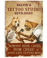 Tattoo Dog Your Last Tattoo PDN pml Vertical Poster tile