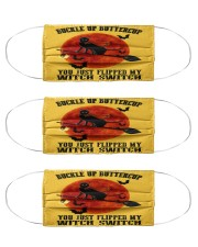Cat Buckle Up Buttercup Cloth Face Mask - 3 Pack front