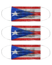 Puerto Rico Made In Code  Cloth Face Mask - 3 Pack front
