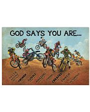 motocross god say you are nna 17x11 Poster front