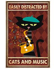 Cat saxophone Easily Distracted PDN 11x17 Poster front