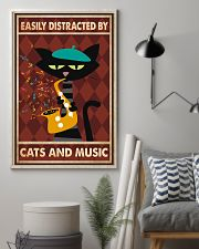 Cat saxophone Easily Distracted PDN 11x17 Poster lifestyle-poster-1