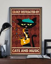 Cat saxophone Easily Distracted PDN 11x17 Poster lifestyle-poster-2